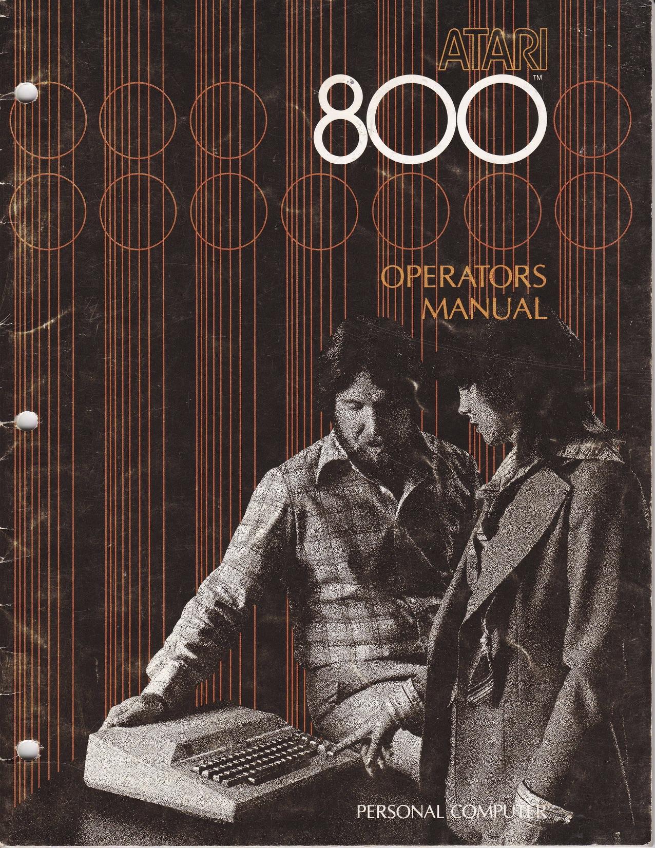 Atari 800 Operators Manual - Prototype